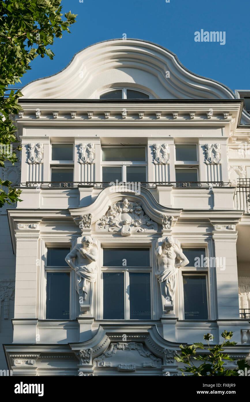 Kurfurstendamm, edificio de lujo, ciudad al oeste, Berlín Foto de stock
