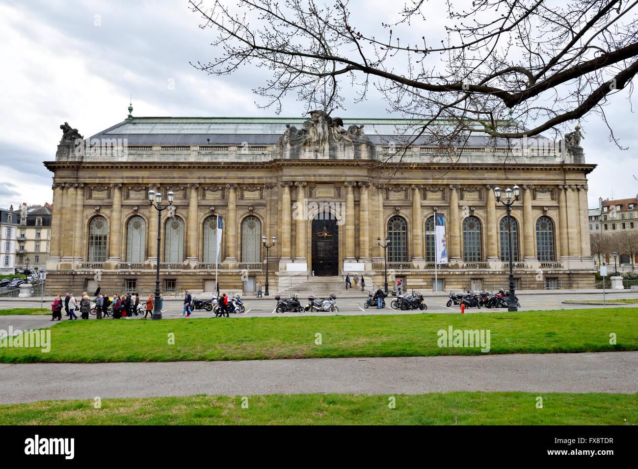 Museo de Historia del Arte, Ginebra Foto de stock
