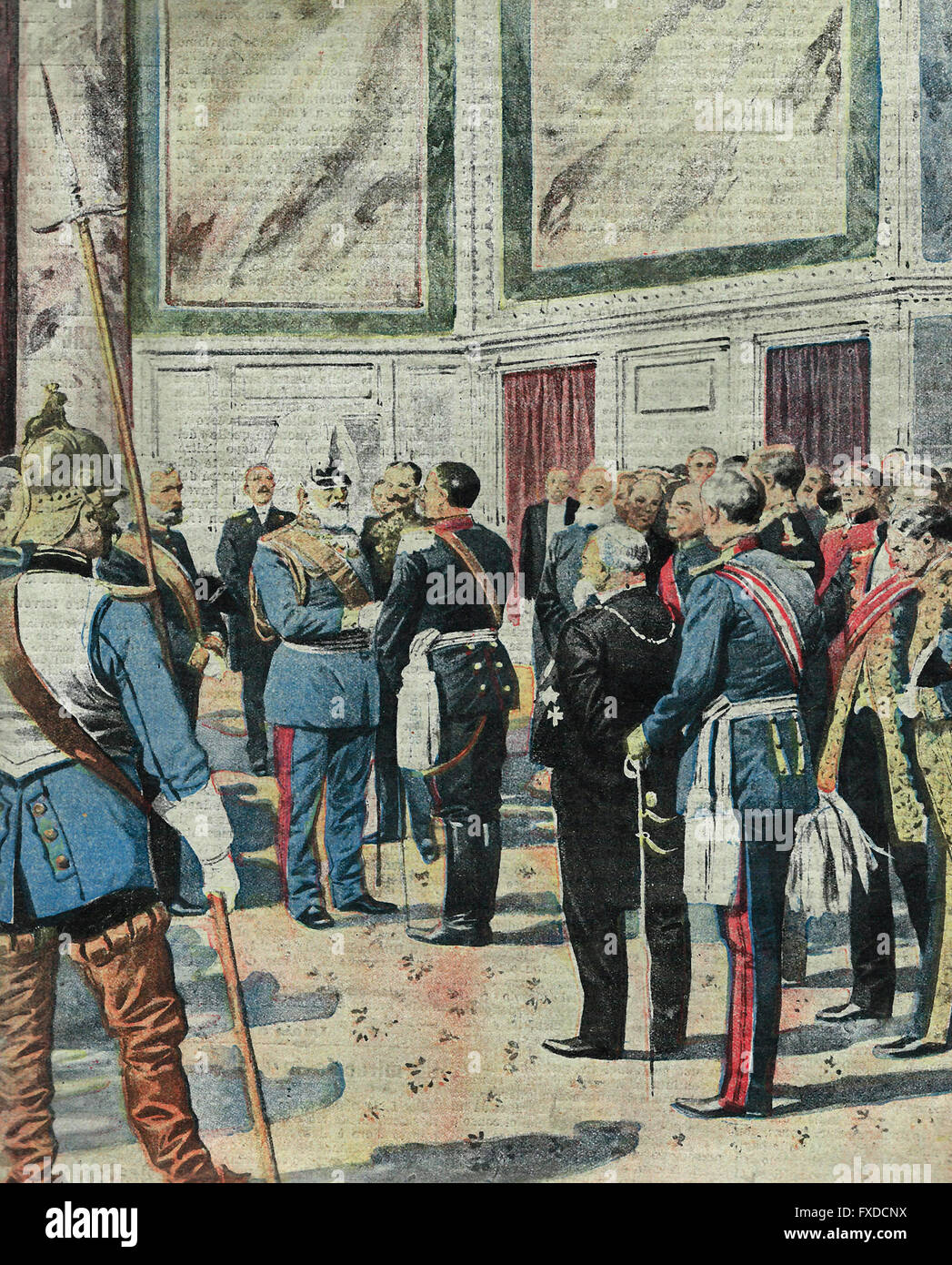 El final de la regencia de Baviera y la asunción al trono del Rey Luis III : El nuevo soberano de Mónaco Imagen De Stock