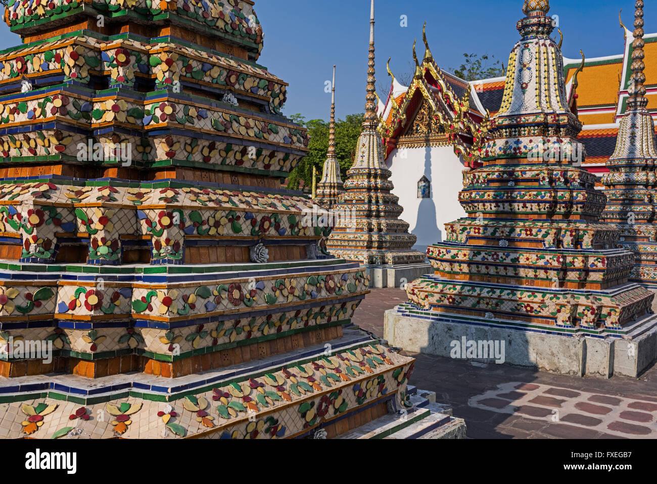 Wat Pho Bangkok Thailand Foto de stock