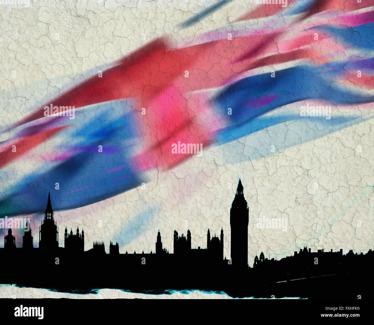 Arte Digital: Londres Imagen De Stock