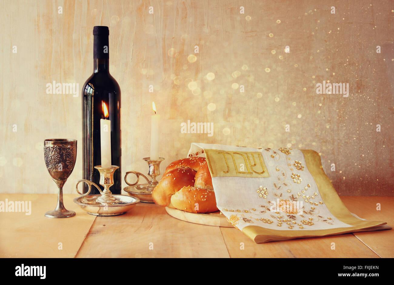 Sábado imagen concepto de la religión judía. Foto de stock
