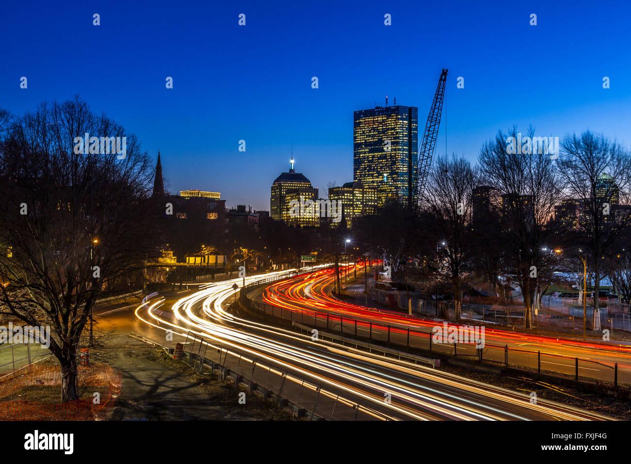 Boston de noche Imagen De Stock