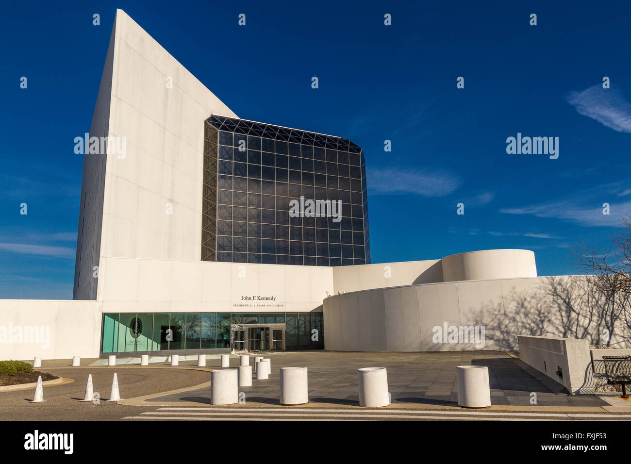 La Biblioteca JFK & Museum . Boston Imagen De Stock
