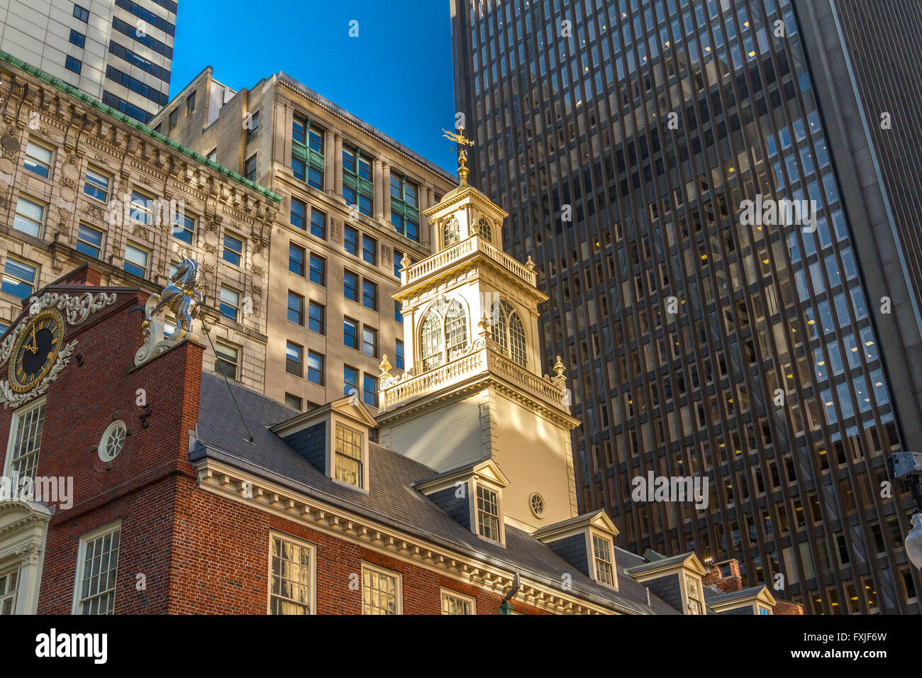 El Old State House, Boston Imagen De Stock