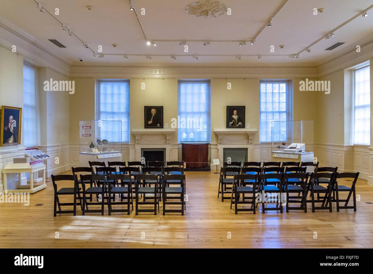 Interior de la Old State House, Boston Imagen De Stock