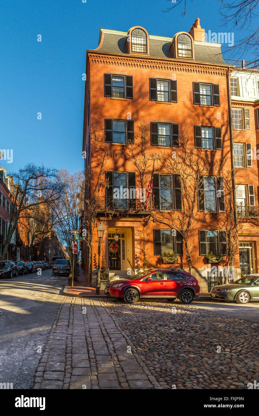 Beacon Hill, Boston. Imagen De Stock