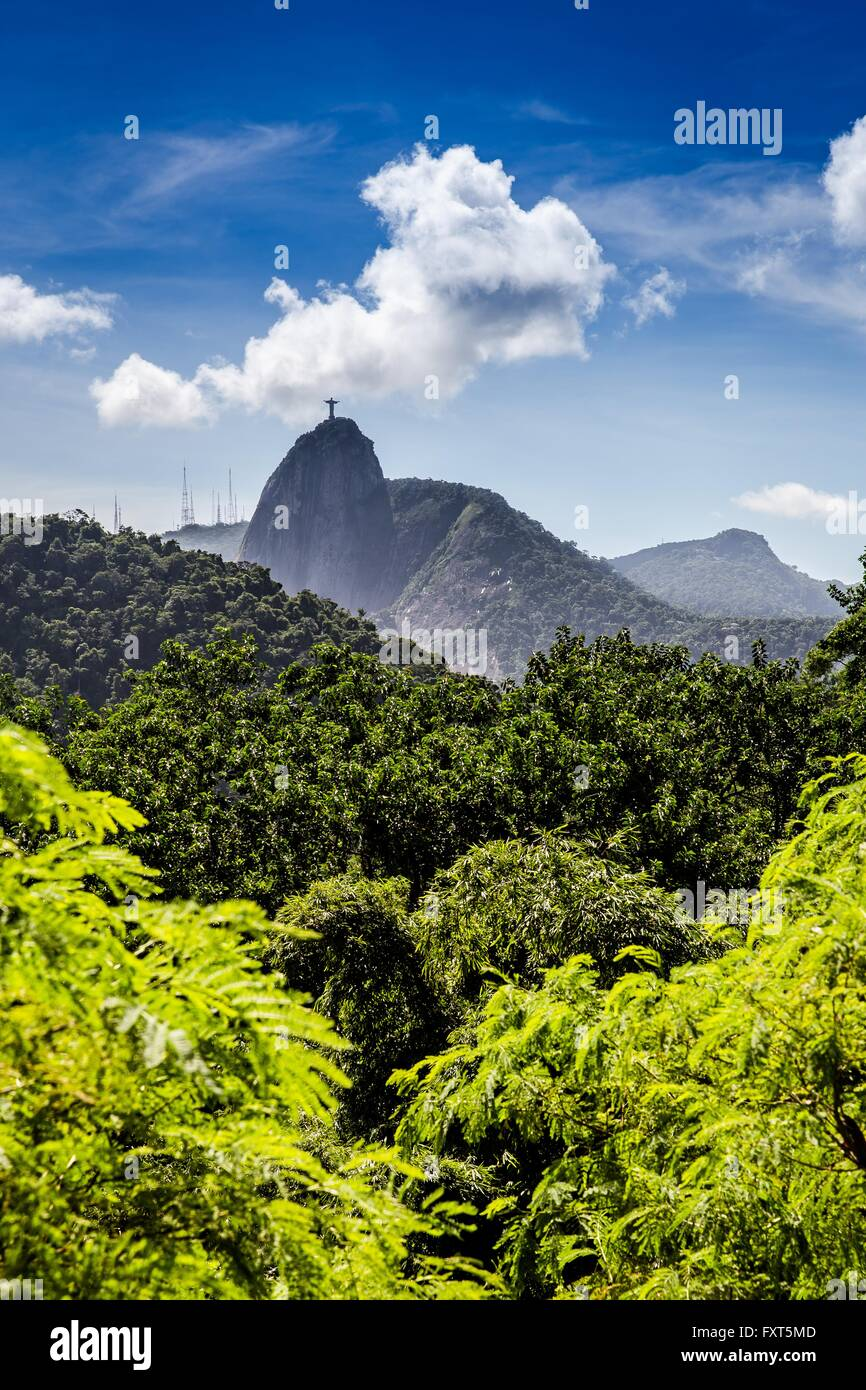 La estatua de Cristo redentor, Corcovado, Río de Janeiro, Brasil Imagen De Stock