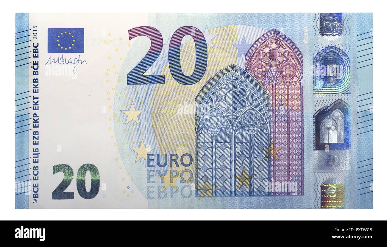Nuevo Billete De 20 Euros 2015 Foto Imagen De Stock 102579691