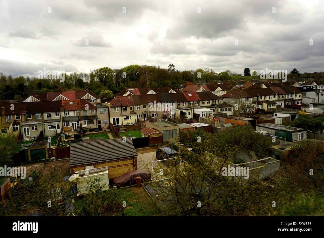 Derramó Ciudad: cocheras y garajes están alquiladas. Imagen De Stock