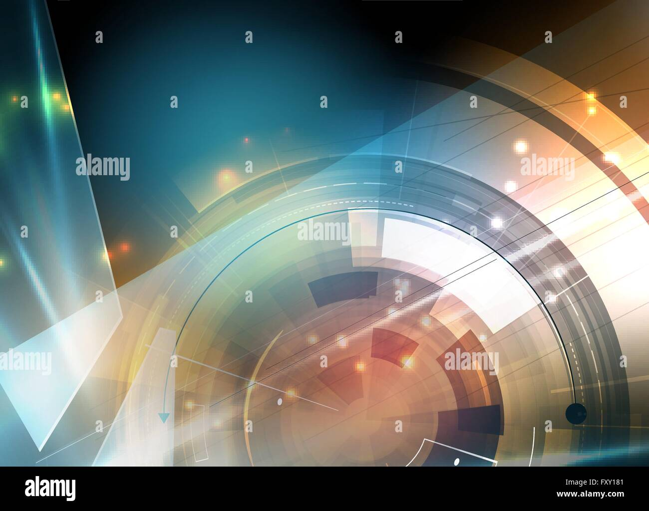La tecnología del futuro científico. Para la presentación del negocio. Folleto, póster Antecedentes Imagen De Stock
