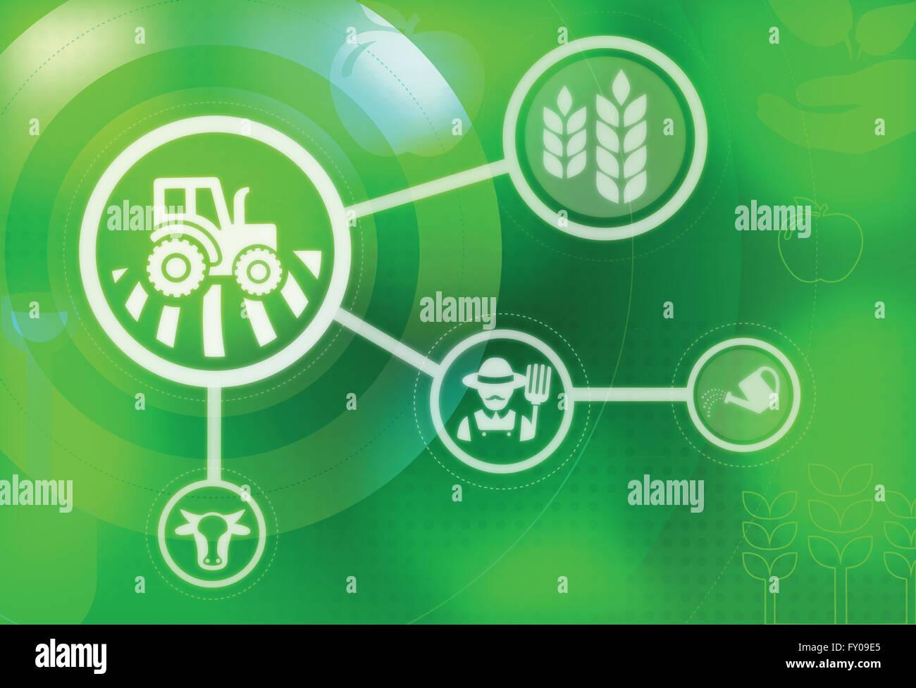 Representación ilustrativa de la agricultura Foto de stock