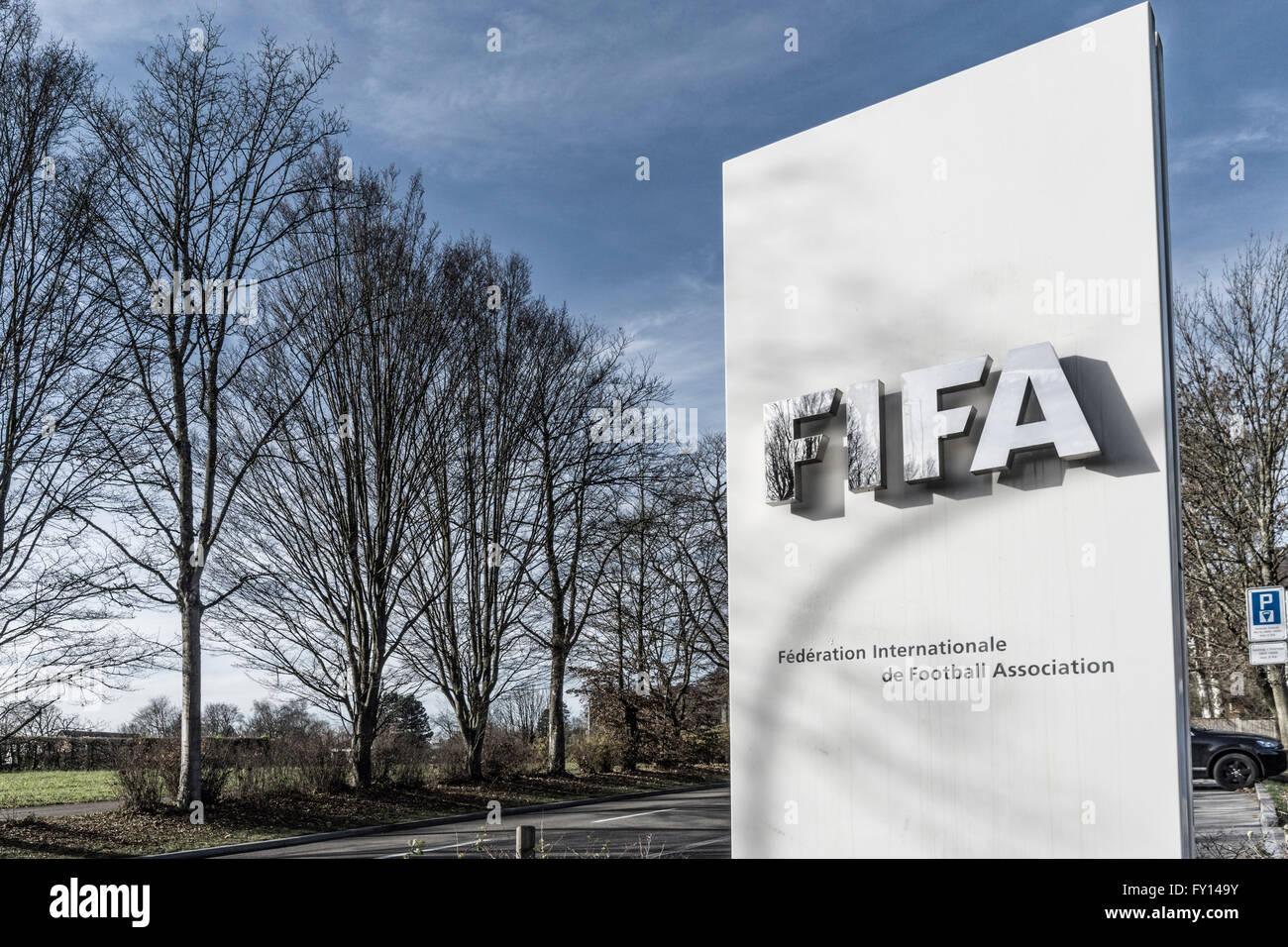 La FIFA, la Fédération Internationale de Football Association, Zurich Imagen De Stock