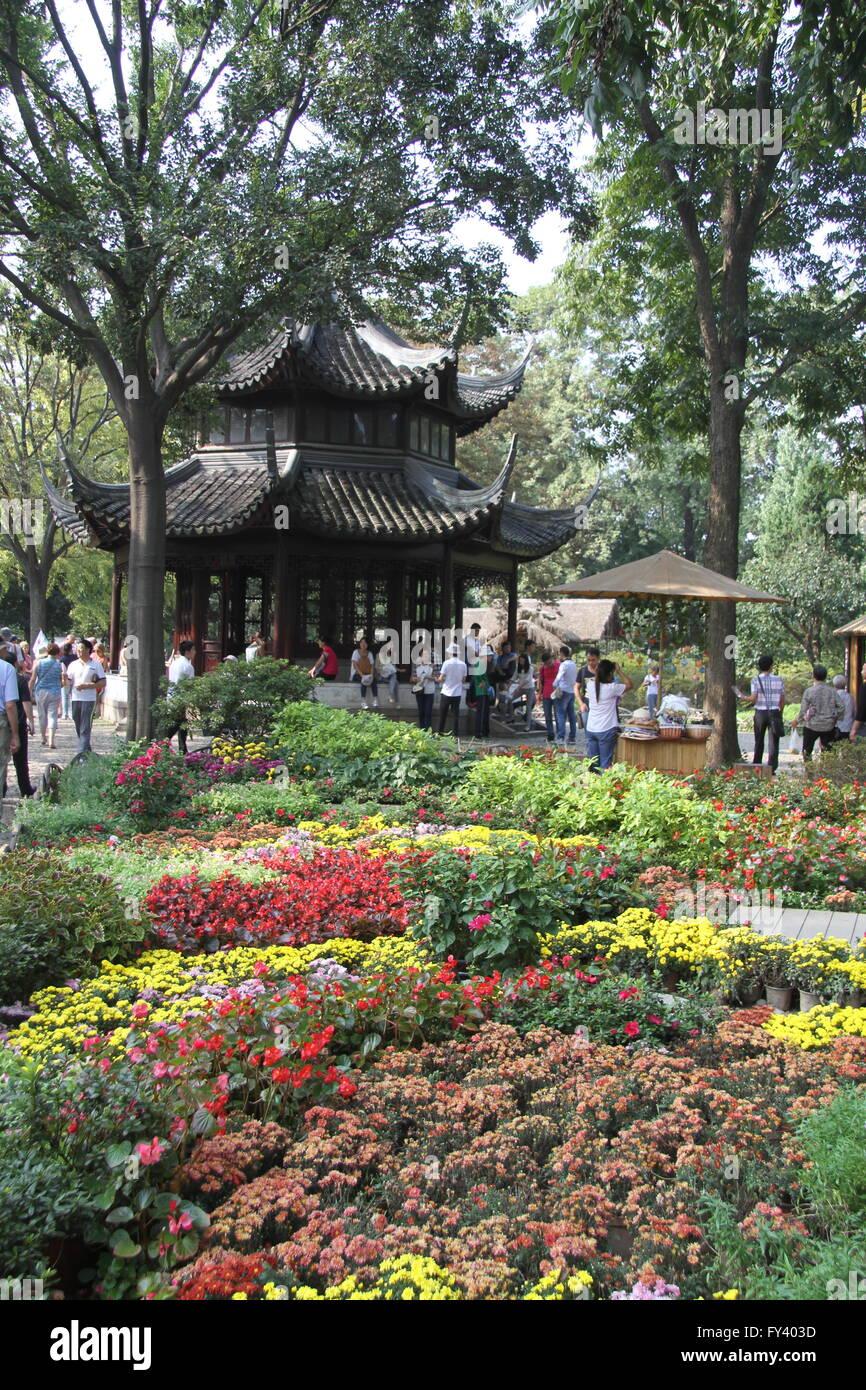 El Jardín del Administrador Humilde, Suzhou, provincia de Jiangsu, China Imagen De Stock