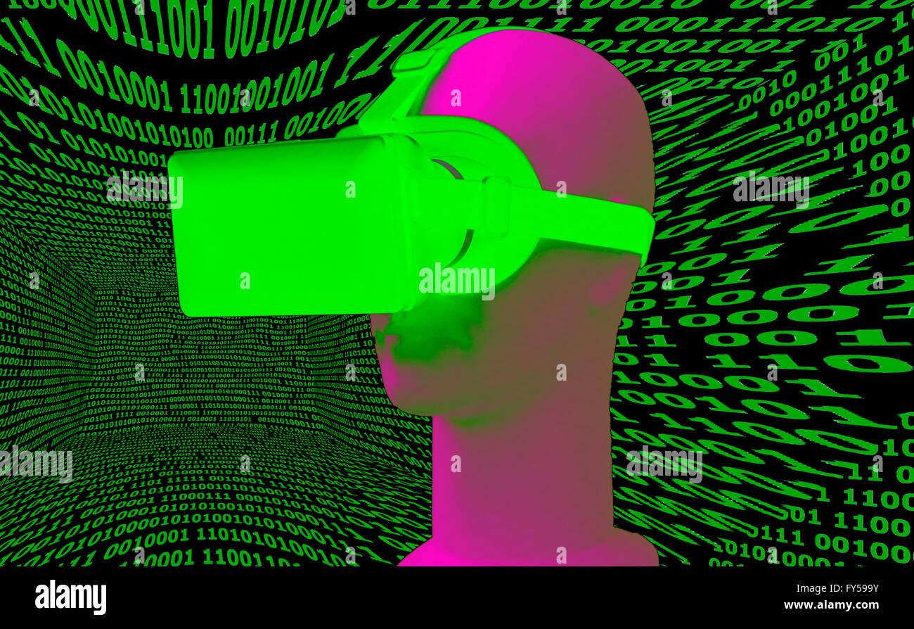 VR Symbolbild/ Virtuelle Realitaet - Datenbrille. Foto de stock