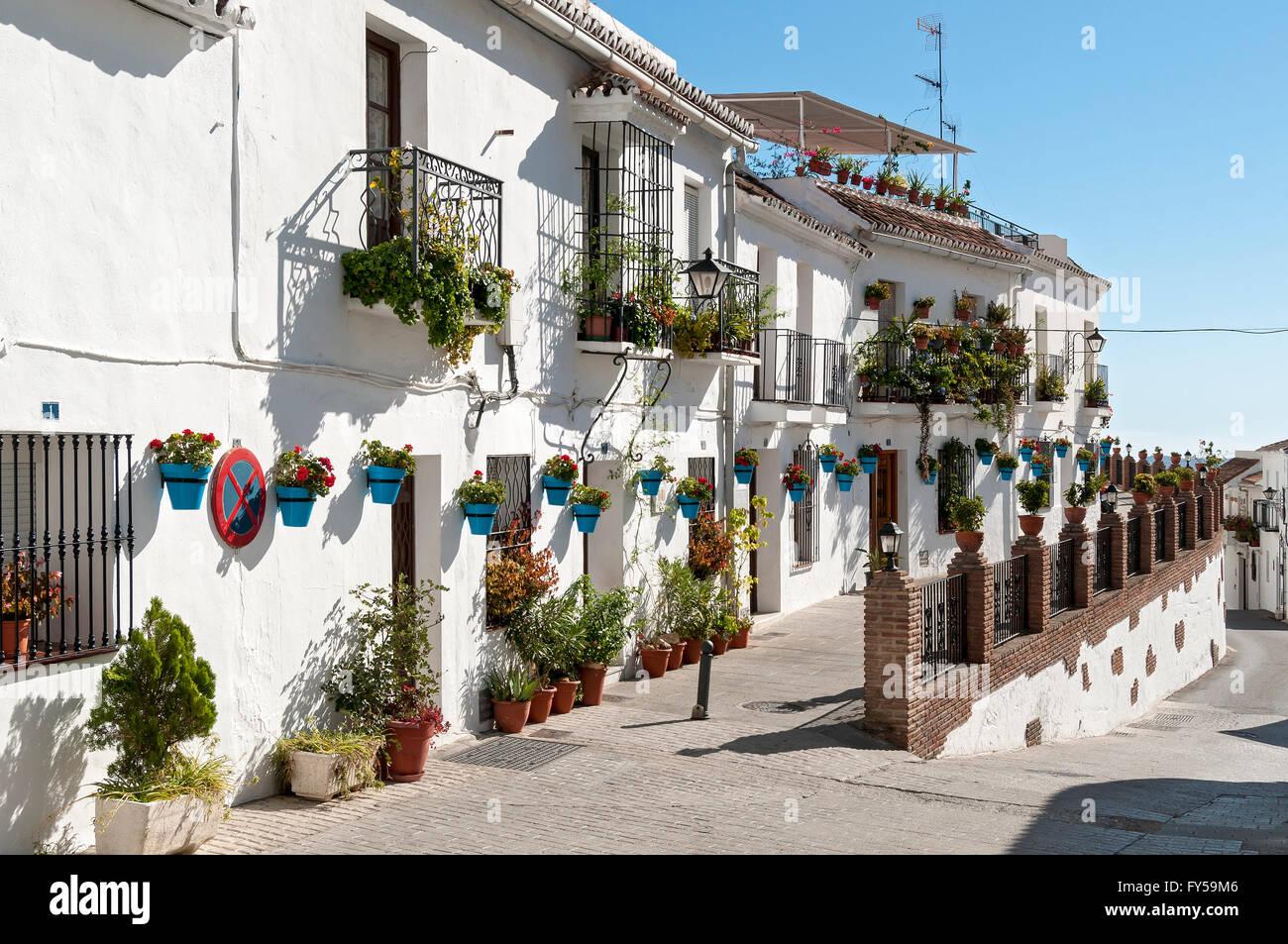 Calle muro street con casas encaladas mijas pueblo - Casas gratis en pueblos de espana ...