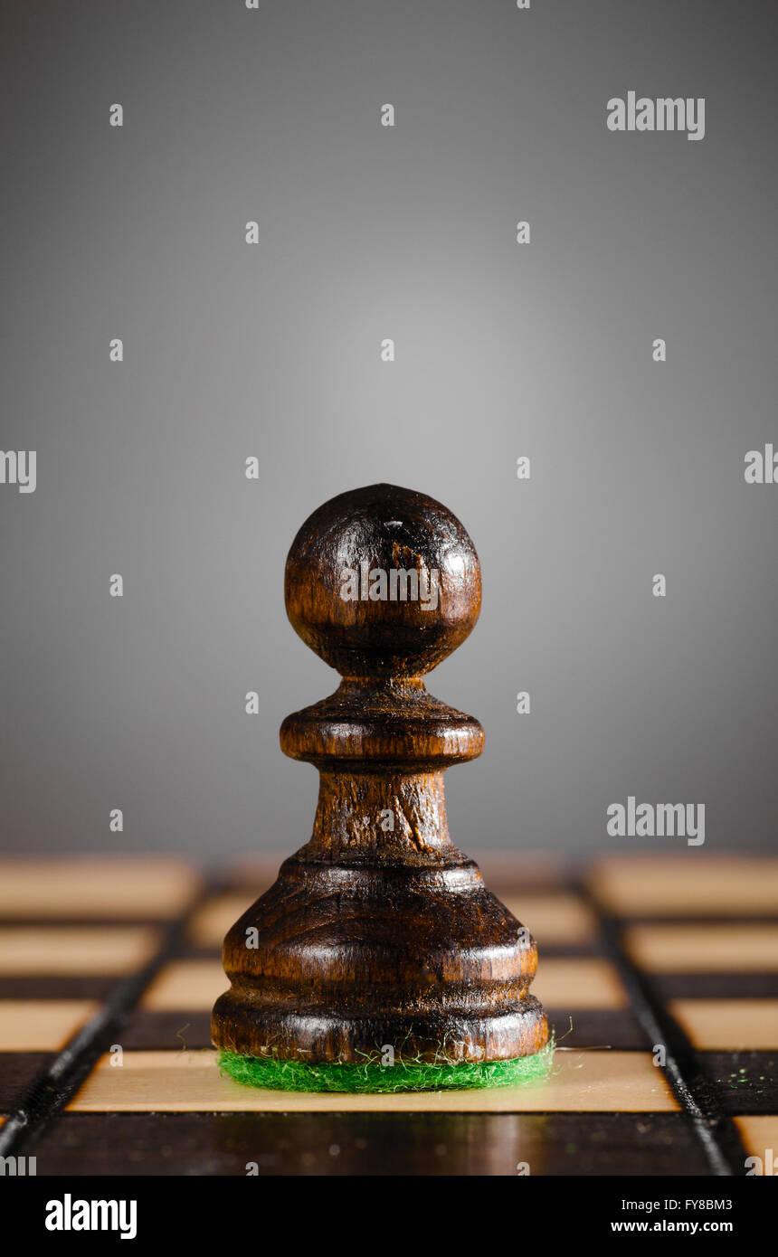 peón de madera Imagen De Stock