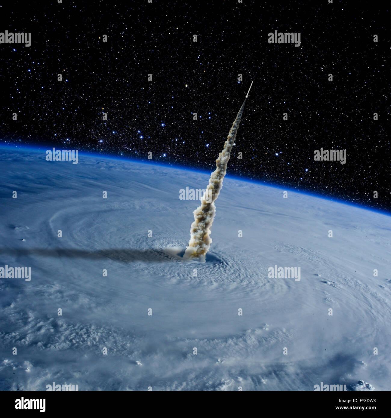 Planeta Tierra desde el espacio. Los elementos de esta imagen proporcionada por la NASA Imagen De Stock