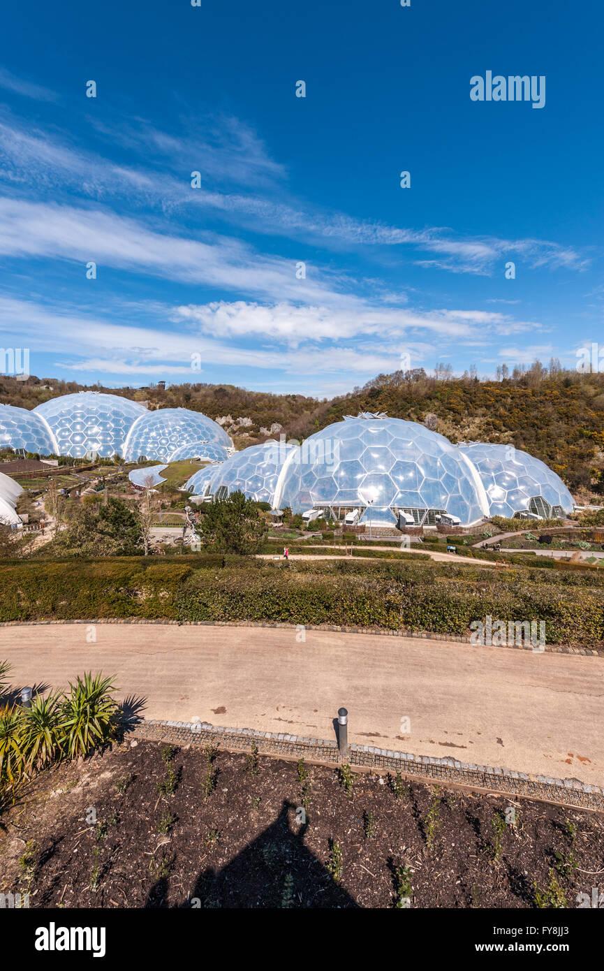 Eden Project en Cornualles, Reino Unido Foto de stock