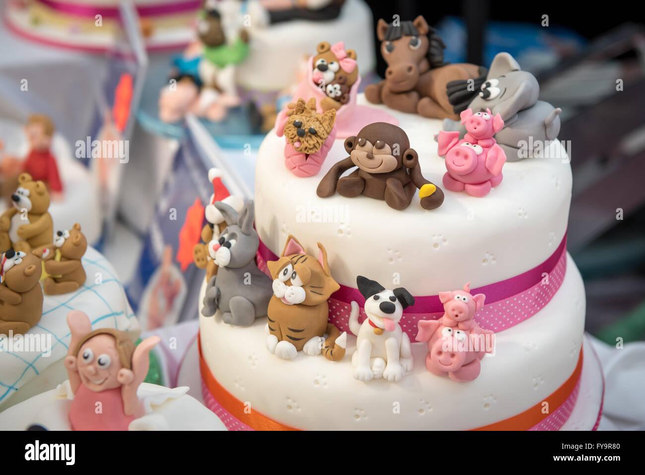 Forma Animal Tartas De Cumpleaños Decoraciones Pastel