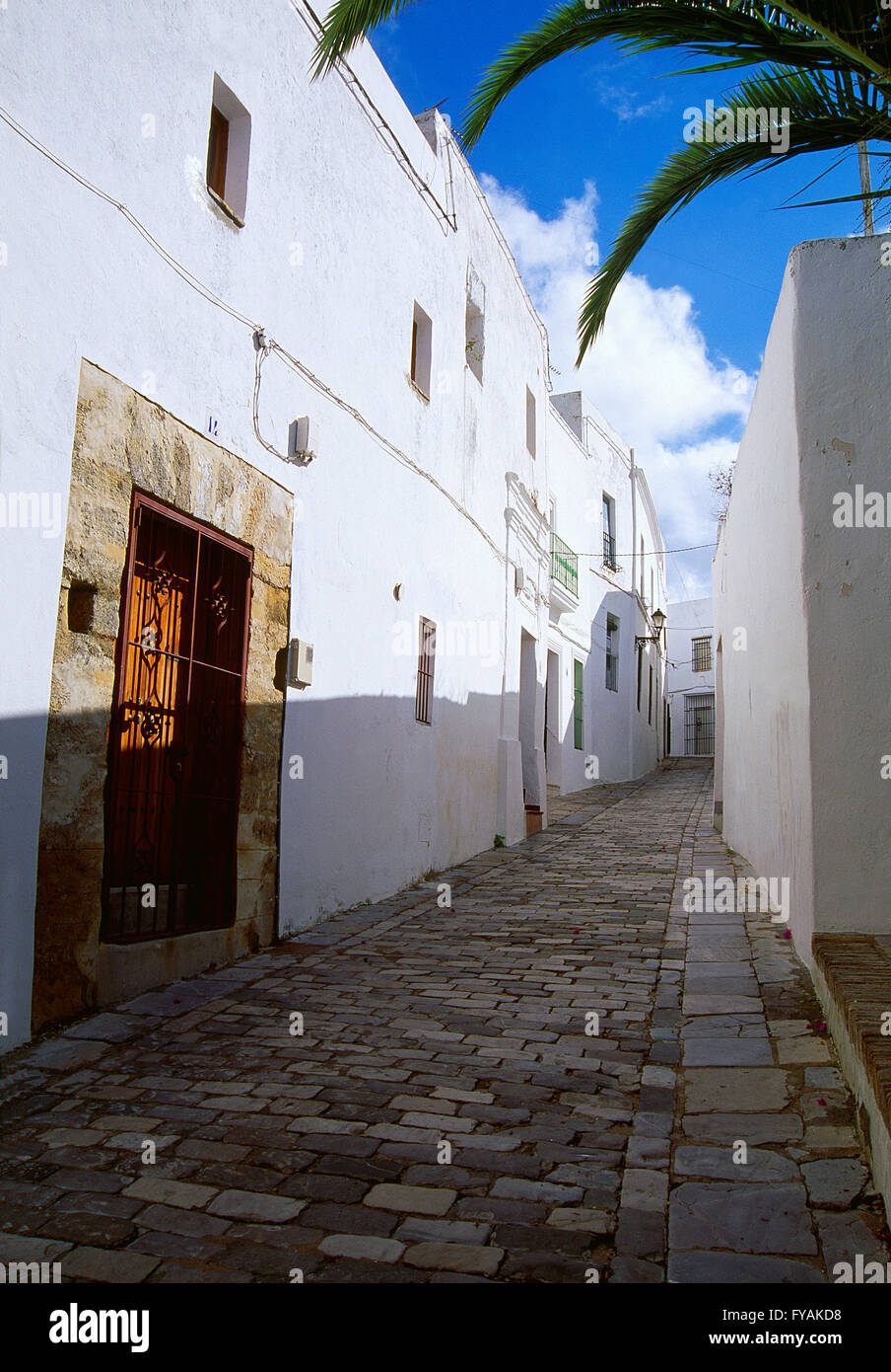 Street. Vejer de la Frontera, provincia de Cádiz, Andalucía, España. Imagen De Stock