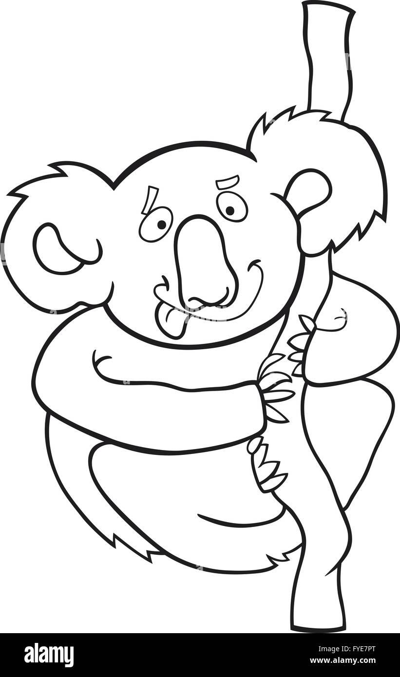 Libro Para Colorear De Koalas Dibujos Animados Foto Imagen