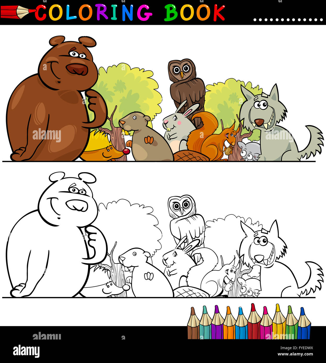 Beaver Illustration Graphic Imágenes De Stock & Beaver Illustration ...