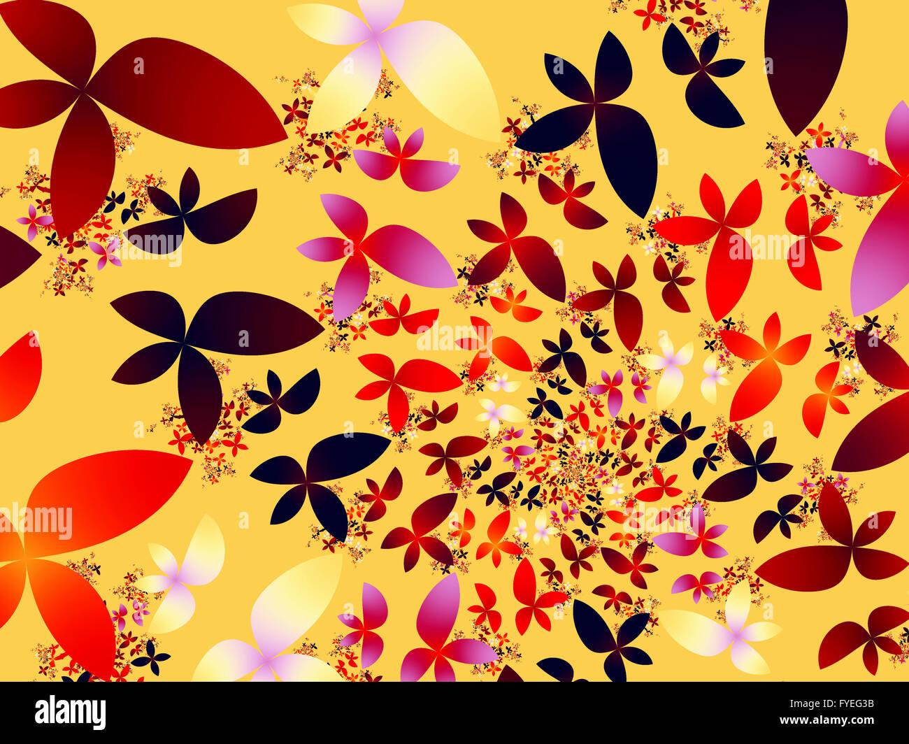 Patrón Fractal florido Imagen De Stock