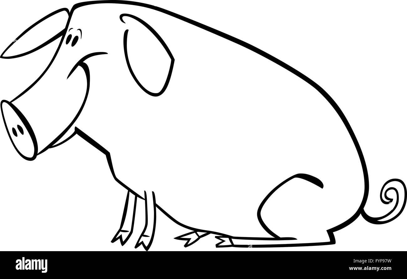 Bonito Cerdo De Tierra Para Colorear Adorno - Dibujos Para Colorear ...