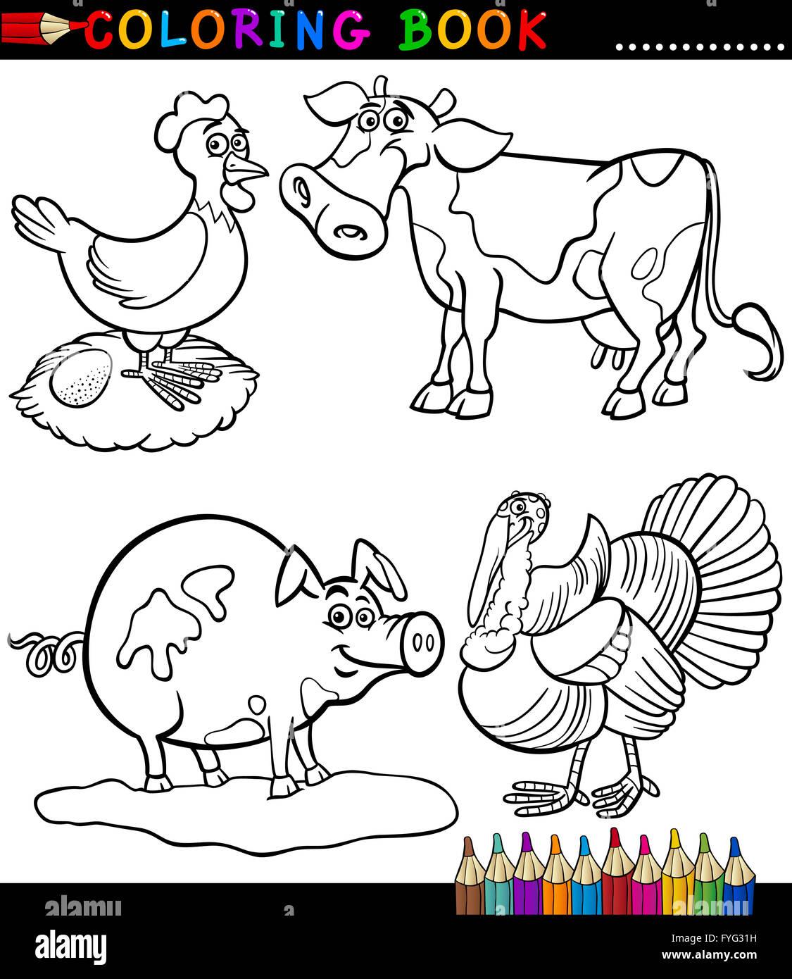 Dibujos Para Colorear Granja