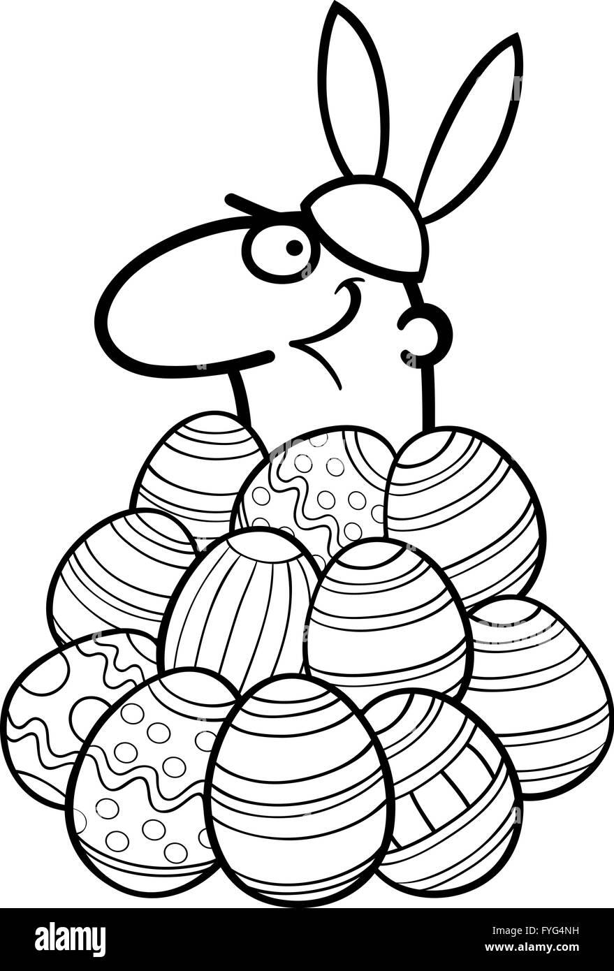 El Hombre Como Conejito De Pascua Para Colorear Dibujos Animados