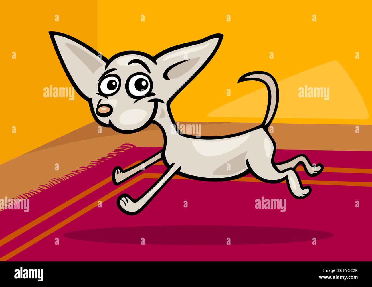 Ejecutando chihuahua cartoon ilustración Foto & Imagen De Stock ...