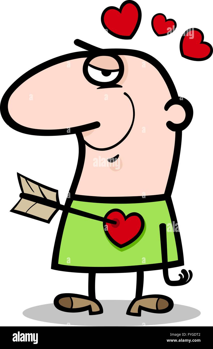 Un Hombre Enamorado Caricatura Ilustración Fotografía De Stock Alamy