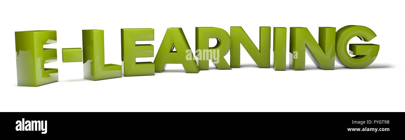 Render del texto e-learning Foto de stock