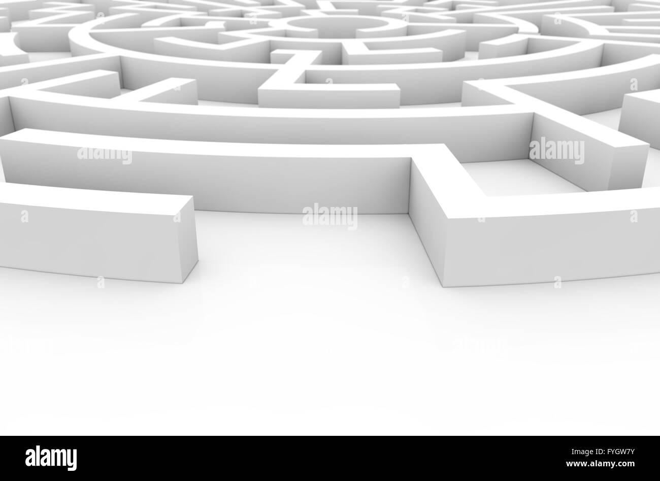 Concepto de dificultad: laberinto render Imagen De Stock