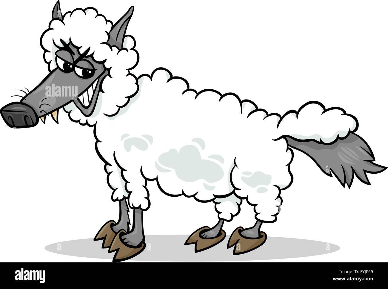 Lobo Vestido De Oveja En Cartoon Foto Imagen De Stock