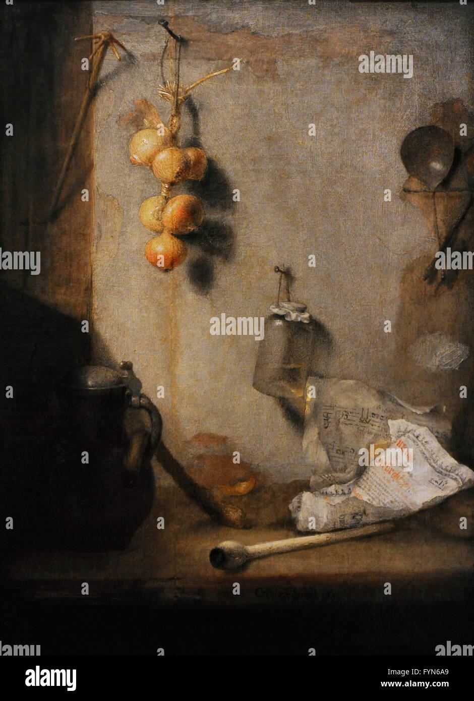 Christopher Paudiss (ca. 1618-1666). Pintor alemán. Still Life, 1660. Óleo sobre lienzo. El Museo Estatal Imagen De Stock