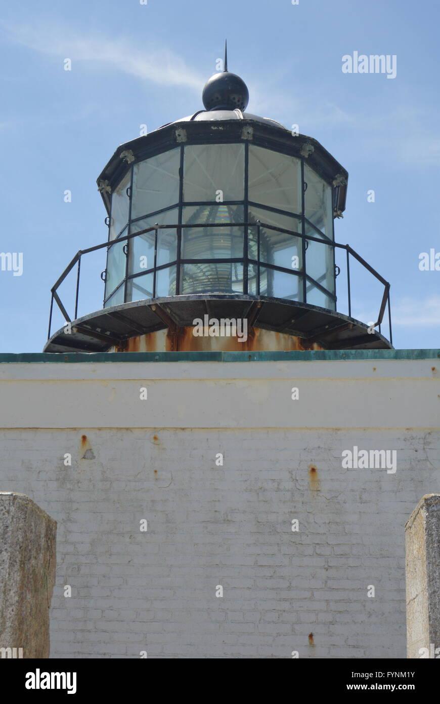 Faro de Punta Bonita arriba cerrar Imagen De Stock