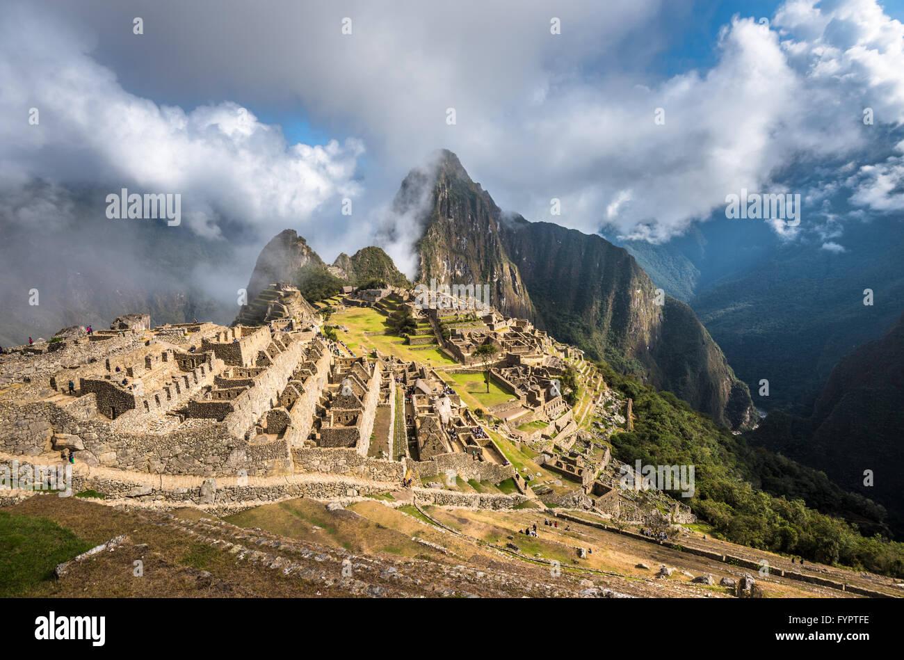 Machu Picchu, Sitio del Patrimonio Mundial de la UNESCO. Una de las nuevas Siete Maravillas del Mundo. Imagen De Stock