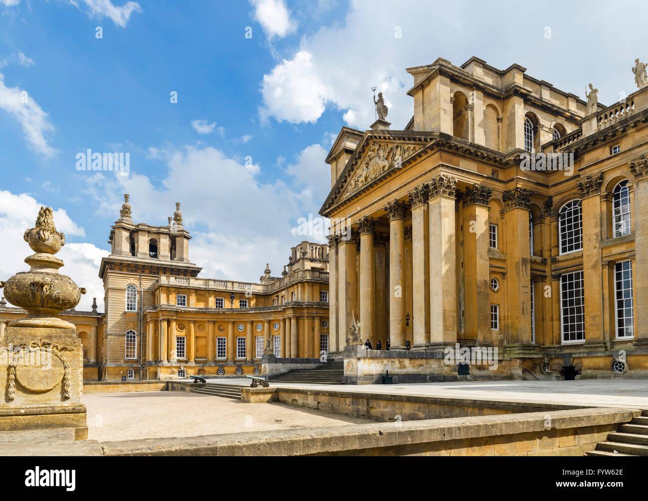 El Palacio de Blenheim, asiento de los Duques de Marlborough y el lugar de nacimiento de Sir Winston Churchill, Imagen De Stock