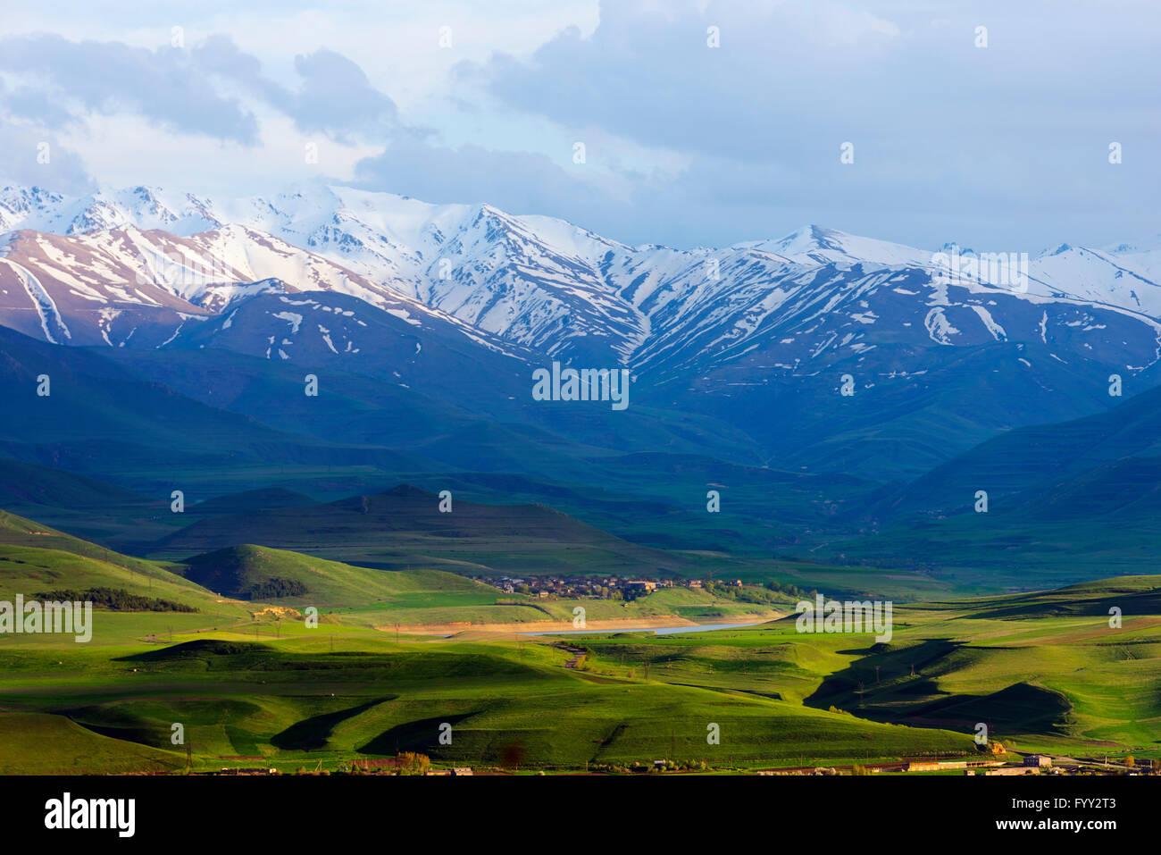 Eurasia, región del Cáucaso, Armenia, Syunik provincia, paisaje cercano Sisian Foto de stock