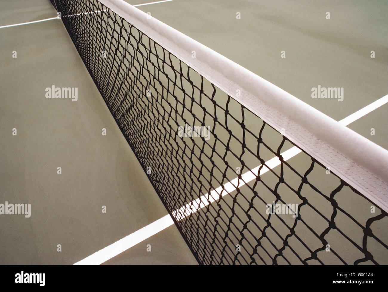 Cerca de pista de tenis & net Imagen De Stock