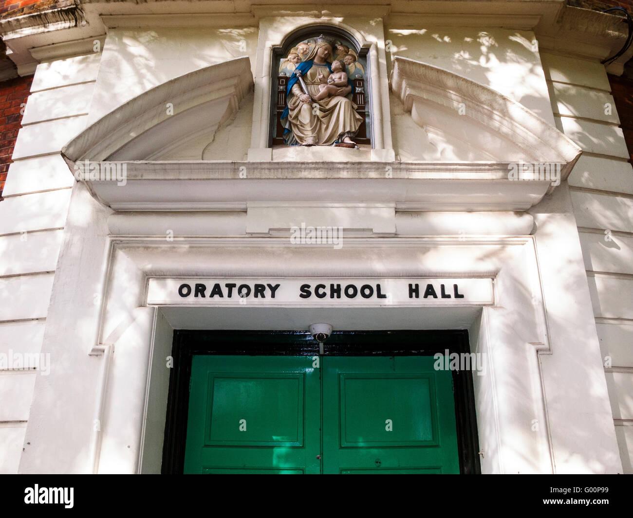Oratorio School Hall, entrada de cerca Foto de stock
