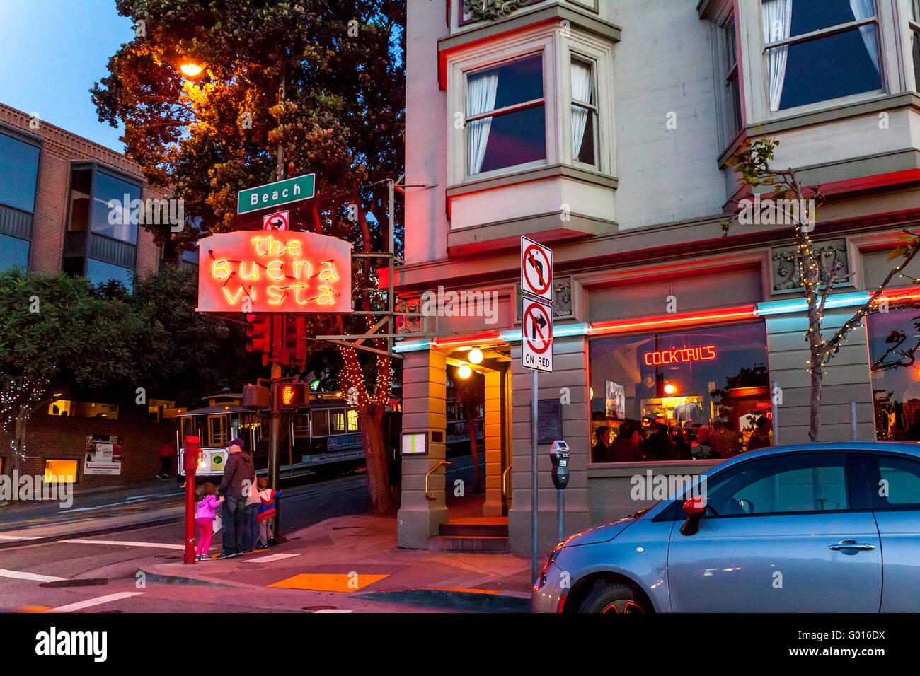 El Buena Vista Hyde y Beach Cafe en las calles de San Francisco, California Imagen De Stock