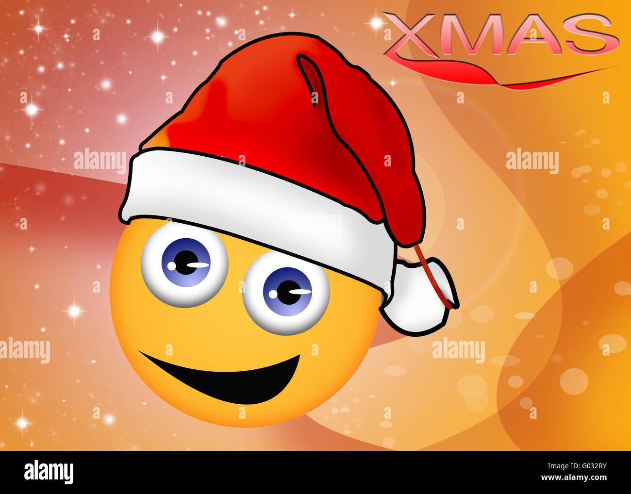 Sonriente, Navidad Imagen De Stock