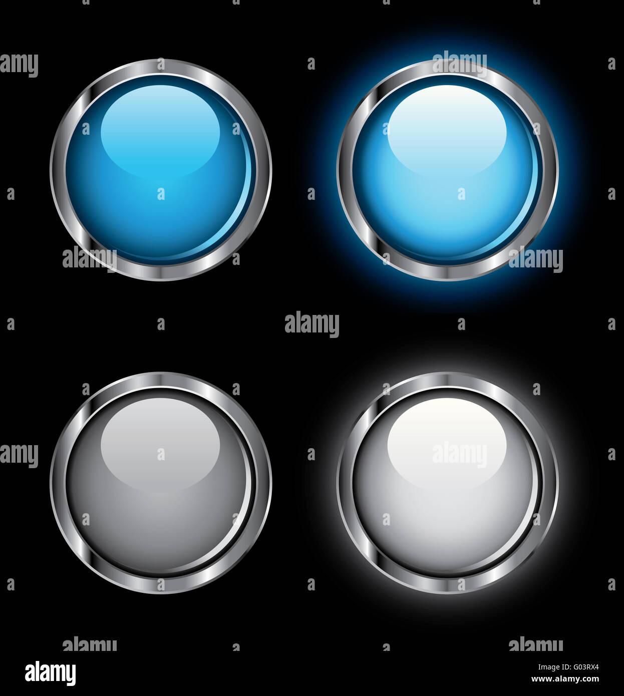 Rollover brillante Botones web Imagen De Stock