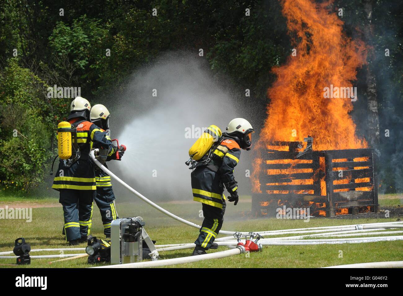 Simulacro de incendio Imagen De Stock