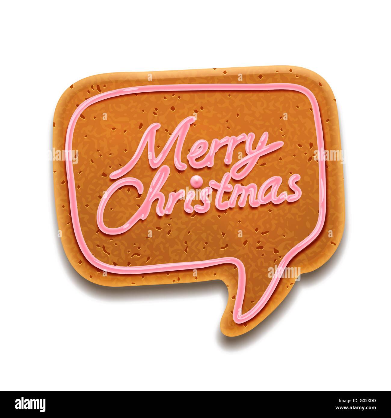 Feliz Navidad discurso de burbuja, EPS vector image10 Imagen De Stock