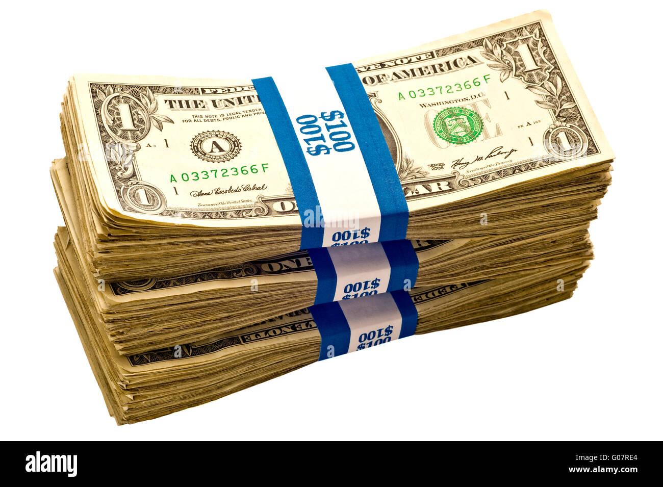Fajos de dinero dinero americano Imagen De Stock