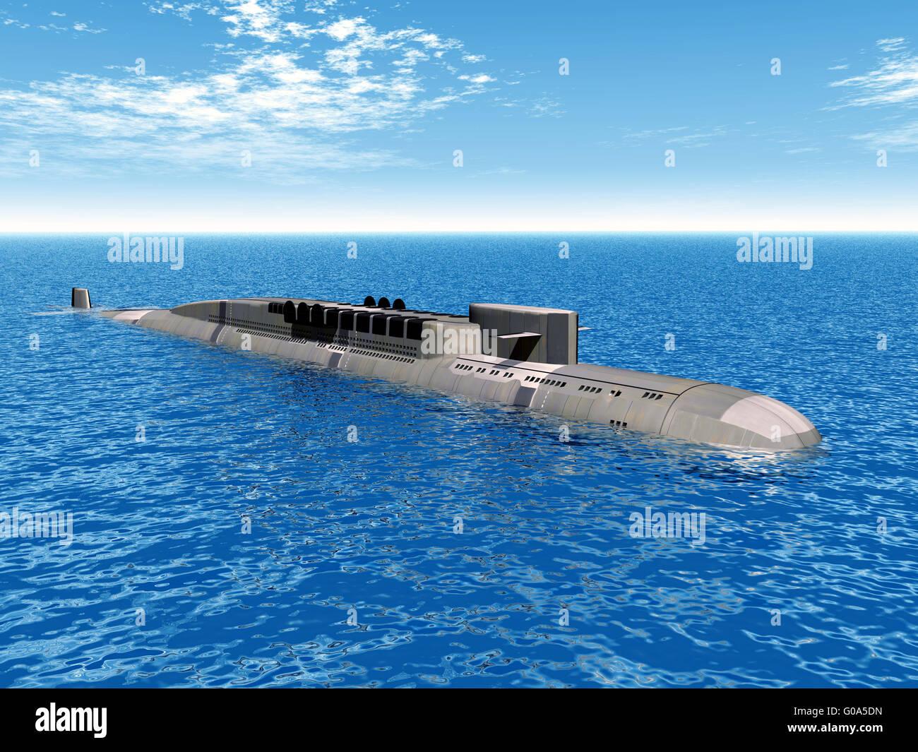 Submarino Nuclear ruso Imagen De Stock